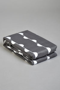 Charcoal/White Print Fitted Sheet (Single Size)