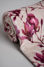 Load image into Gallery viewer, Purple Floral Printed Blanket (Single Size)