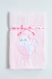 Pink Blanket With Applique