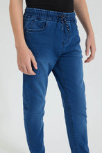 Load image into Gallery viewer, Blue Pull On Knitted Jean
