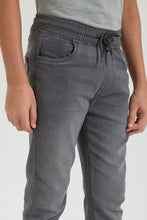 Load image into Gallery viewer, Grey Pull On Knitted Jean