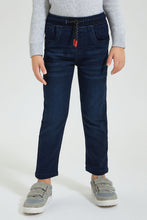 Load image into Gallery viewer, Dark Blue Pull-On Jean