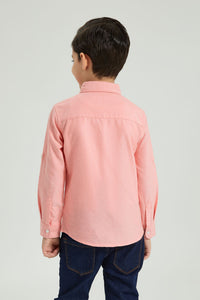 Coral Oxford Shirt