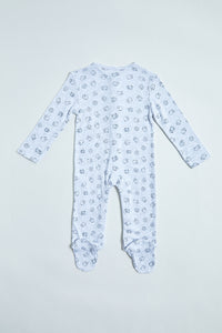Grey/White Sleep Suits (Pack of 3)