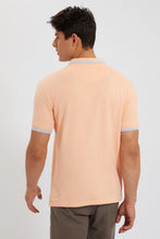 Load image into Gallery viewer, Peach Tipping Collar Polo Shirt