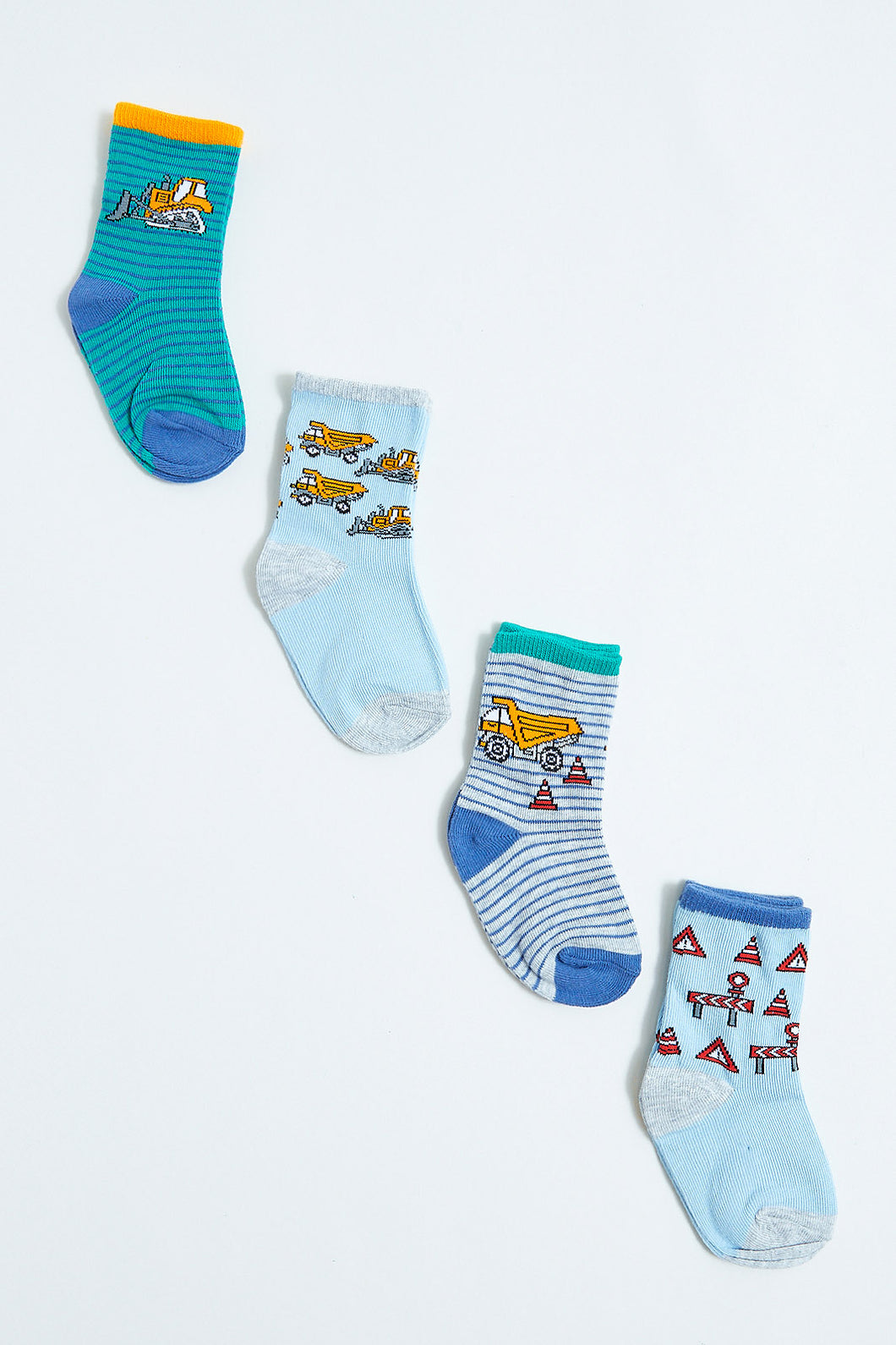 Assorted Ankle Length Socks (4 Piece Set)