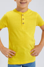 Load image into Gallery viewer, Yellow Henley T-Shirt