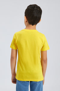Yellow Henley T-Shirt