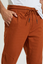 Load image into Gallery viewer, Brown Twill Jogger With Stretch