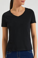 Load image into Gallery viewer, Black Plain T-Shirt