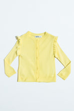 Load image into Gallery viewer, Yellow Cardigan With Frill