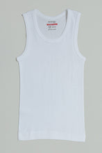 Load image into Gallery viewer, White/Grey Sleeveless Vests (Pack of 3)