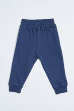 Load image into Gallery viewer, Navy Super Kid Print Knit Jogger