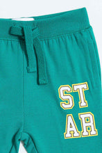 Load image into Gallery viewer, Green Star Print Knit Jogger