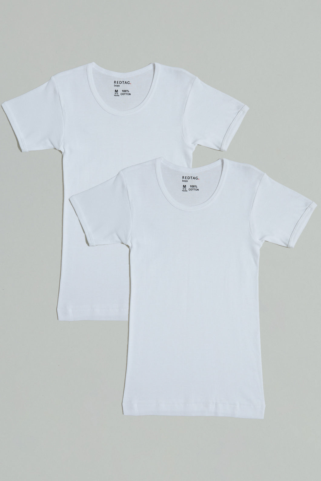 White Short Sleeve Basic Vest (Pack of 2)