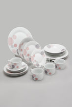 Load image into Gallery viewer, White Abstract Design Dinner (20 Piece Set)