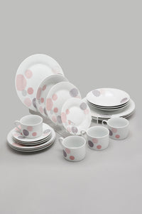 White Abstract Design Dinner (20 Piece Set)