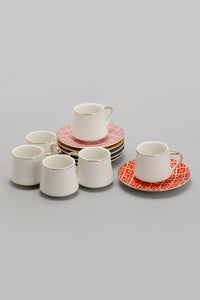 Assorted Geometric Print Espresso Set (12 Piece)