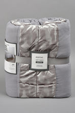 Load image into Gallery viewer, Grey Patchwork 3-Piece Bedspread Set (Single Size)