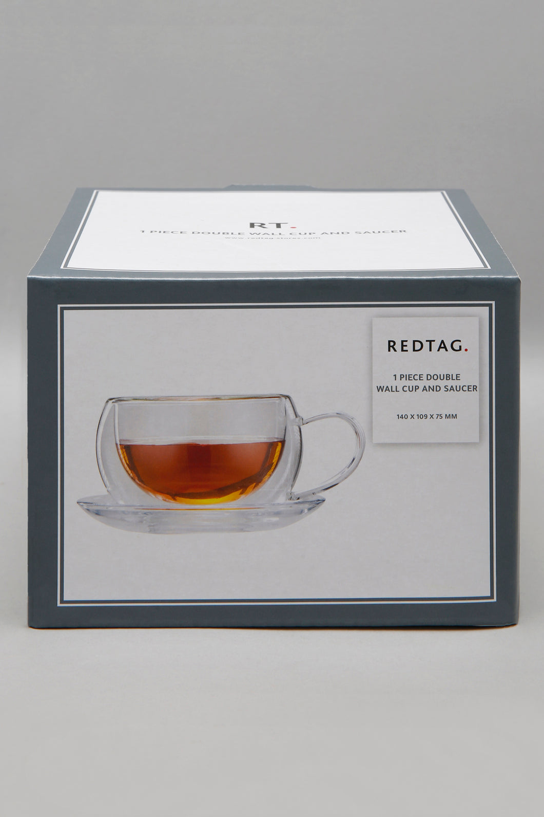 Clear Double Wall Cup And Saucer