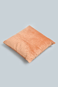 Rust Pin Sonic Velvet Cushion