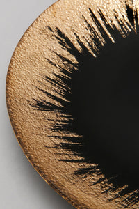 Black and Gold Glass Side Plate