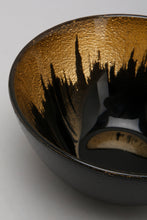 Load image into Gallery viewer, Black/Gold Glass Cereal Bowl