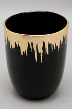 Load image into Gallery viewer, Black and Gold Glass Tumbler