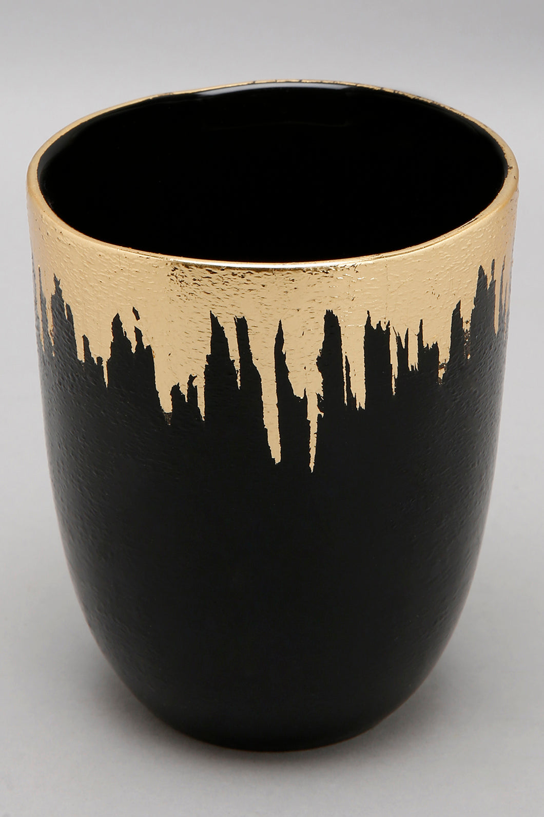 Black and Gold Glass Tumbler