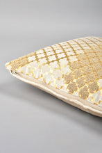 Load image into Gallery viewer, Gold Premium Embellished Velvet Cushion