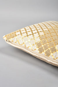 Gold Premium Embellished Velvet Cushion
