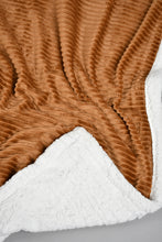 Load image into Gallery viewer, Mustard Corduroy Sherpa Reversible Blanket (Double Size)