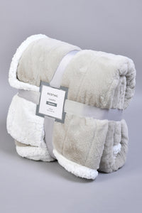 Grey Double Layer Reversible Blanket (Single Size)