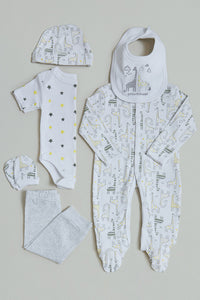 White/Grey Baby Gift Set (Pack of 6)