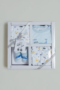 Blue Baby Box Gift Set (Pack of 4)