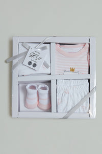 Pink Baby Box Gift Set (Pack of 4)