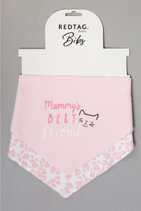 Pink Mummy's Best Friend Bandana Bibs (Pack of 2)