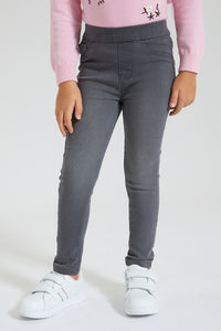 Mid Grey Jeggings