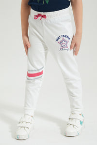 White Printed Jogger