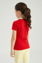 Load image into Gallery viewer, Red Printed T-shirt