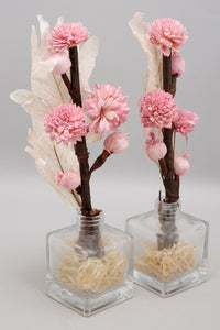 Pink Peony Dried Flower Vase Set (2 Piece Set)