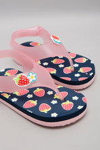 Load image into Gallery viewer, Pink Strawberry Trim Flip Flop