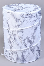 Load image into Gallery viewer, White/Grey Spiral Laundry Hamper