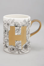 Load image into Gallery viewer, White and Gold Electroplated Mug