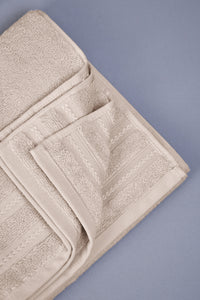 Beige Luxury Cotton Hand Towel