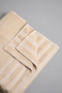 Beige Luxury Cotton Bath Towel