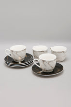 Load image into Gallery viewer, White/Black Marble Printed Espresso Set (8 Piece Set)