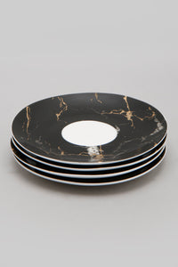 White/Black Marble Printed Espresso Set (8 Piece Set)