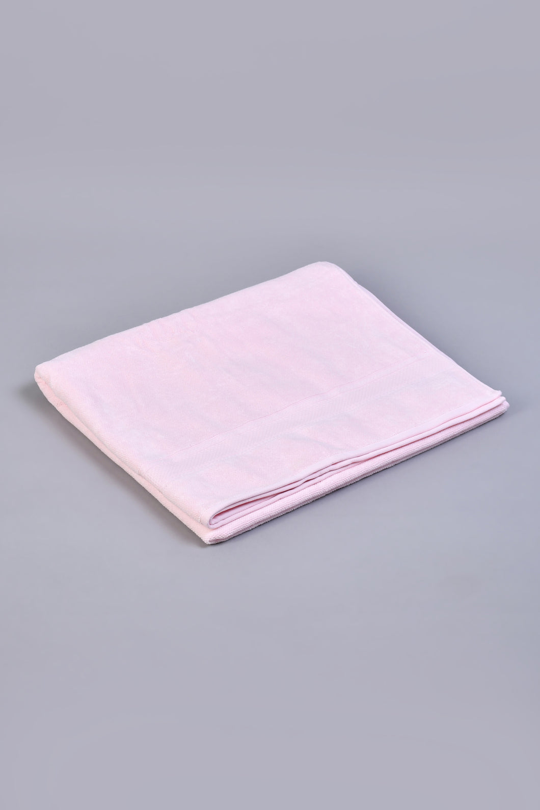 Pink Textured Cotton Bath Sheet