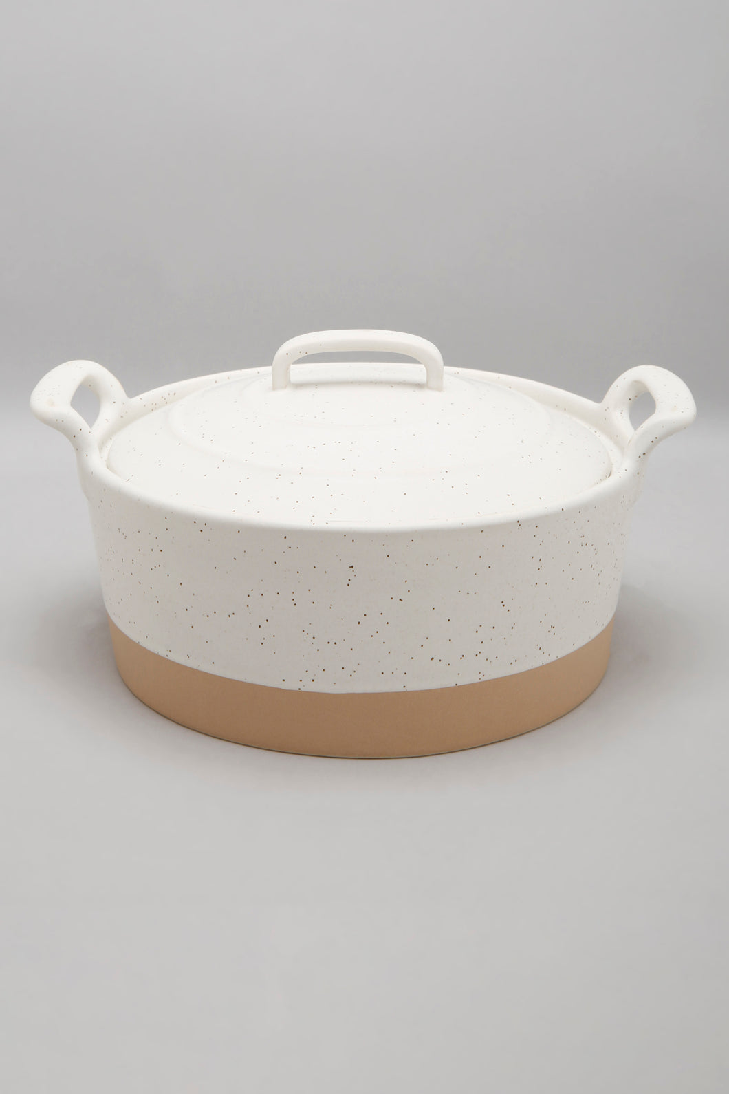 White Casserole with Lid